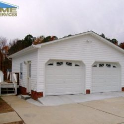 detached 2-car garage with one story