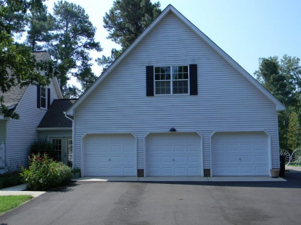 Custom Garage Pictures Photos Pictures of Garages Raleigh NC – 2 Story 3 Car Garage Plans