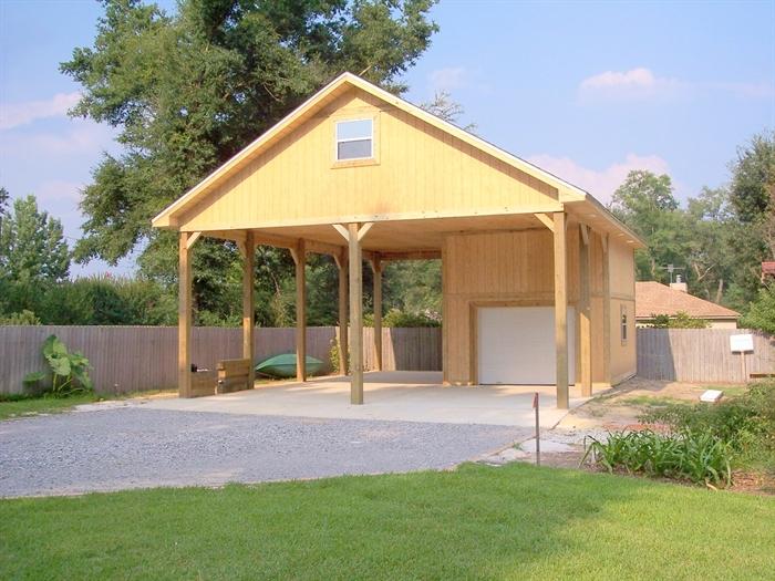 Rv garage with carport home desain 2018 for Garage plans with carport