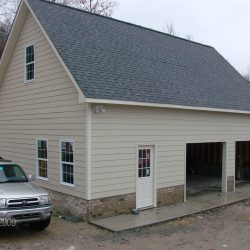 2-car garage with front entrance