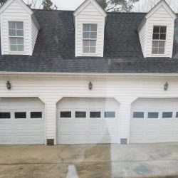 3-car garage with popout windows