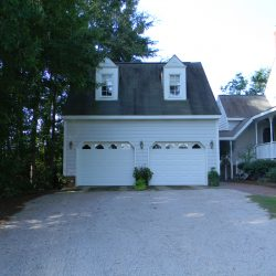 2-car garage with popout windows in Durham, NC