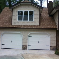 two car garage with in-law suite