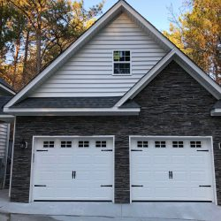 custom 2-story garage in Cary, NC