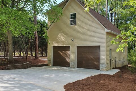 24'x 36' One and One-Half Story Detached Garage
