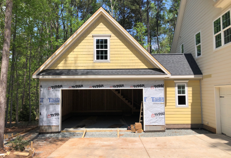 24'x 24' One and One-Half Story Attached Garage